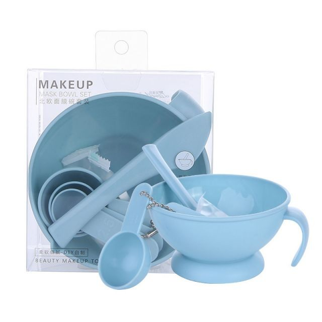 Lameila new arrival reusable facial mixing bowl and compressed mask DIY mask bowl set D0894