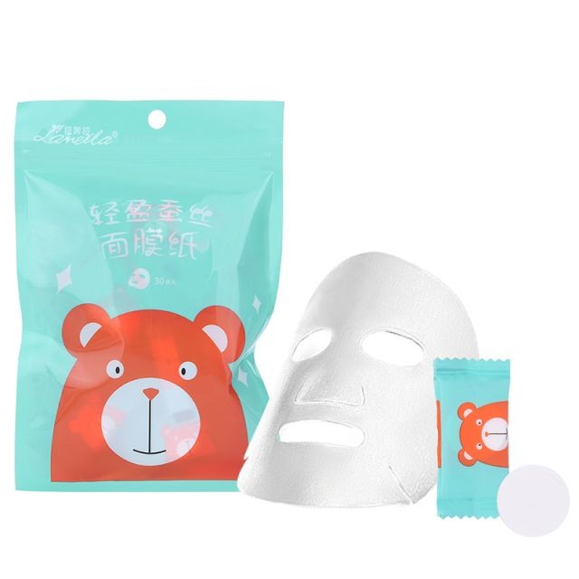 Lameila Universal DIY Compressed Silk Facial Mask Sheet 30pcs Beauty Face Mask Paper Cotton and Portable Candy Packaging D0909