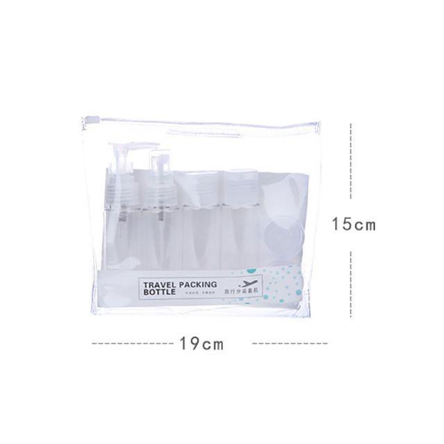 Lameila 2017 Hot sales products makeup bag plastic travel set empty bottles LM207