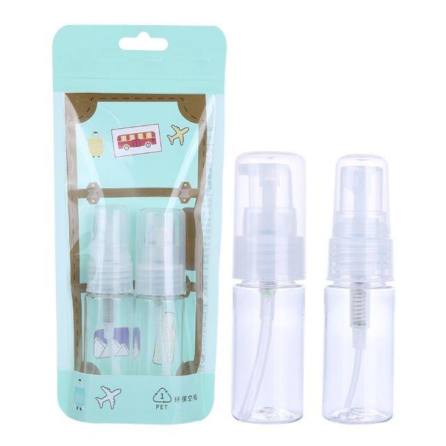 Lameila hot selling 2pcs transparent bottle spray plastic bottles portable travel bottle set LM254