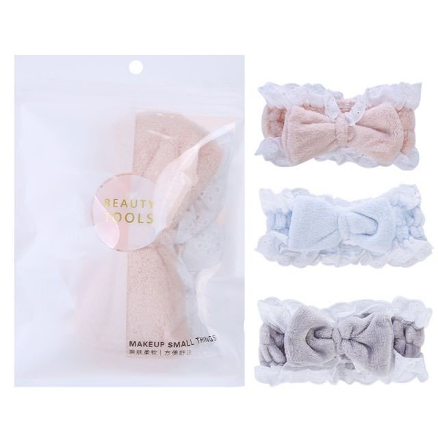 Lameila hair band Makeup fabric bows face washing shower headbands spa for lady cosmetic tools C0848