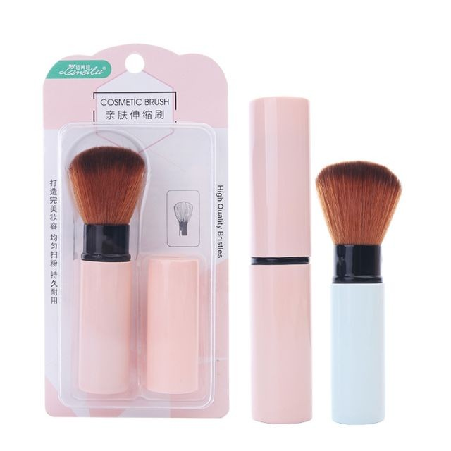 Lameila cosmetic tool manufacturer plastic handle foundation retractable powder makeup brushes with retractable cover L0832