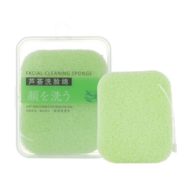 Lameila facial makeup remover soft aloe gentle deep clean face cleaning puff B2154