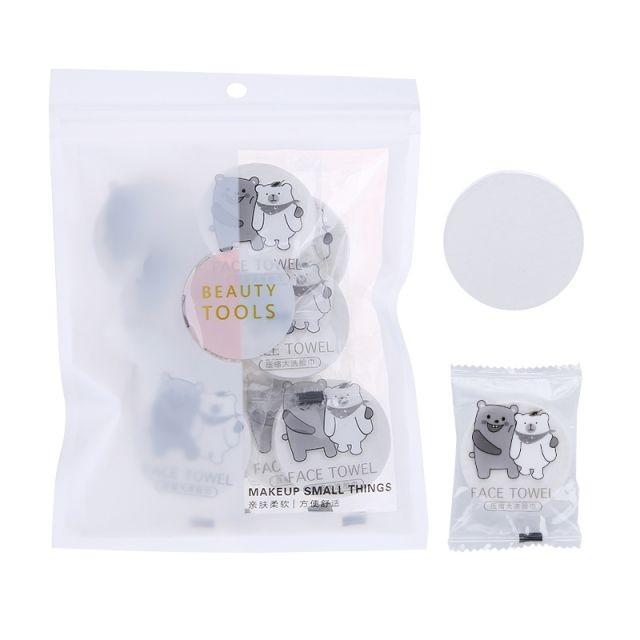 Lameila 10pcs/bag Convenient Soft Disposable Towels Beach Mini Compressed Cotton Face Towel B261
