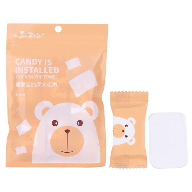 Lameila Cotton Plant Fiber Thicker Soft Disposable Towels Cellulose 10pcs Portable Bath Compressed Cotton Face Towel D0908