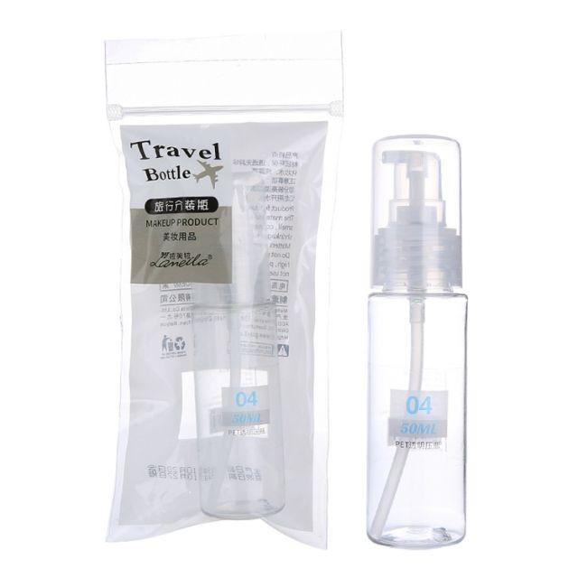 Lameila 50ml PET Lotion Pump Bottles Portable Cosmetics Face Cream Facial Cleanser Empty Travel Plastice Bottles Kit LM178