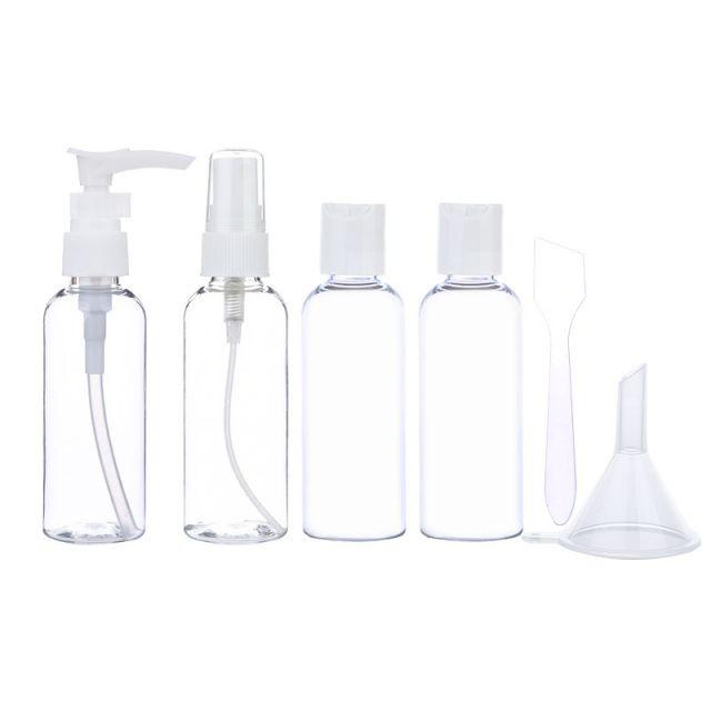 Lameila Transparent Mist Spray Pump Bottle Kits Mini Portable Plastic Travel Bottle Sets LM261