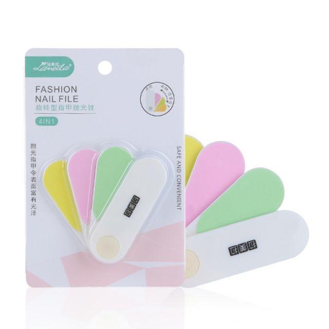 Lameila OEM makeup nail files care tool plastic colorful personalised nail file C0329