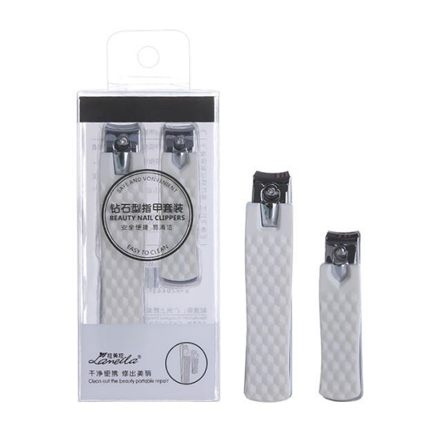 Lameila 2pcs Finger Nail Clipper Portable Stainless Steel Nail Clipper Professional Nail Cutter Clipper Set C0185