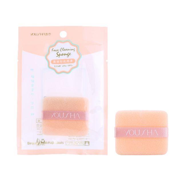 Yousha Fashion Makeup Foundation Sponge Square Shape Air Cushion Puff With Silk Ribbon YF164