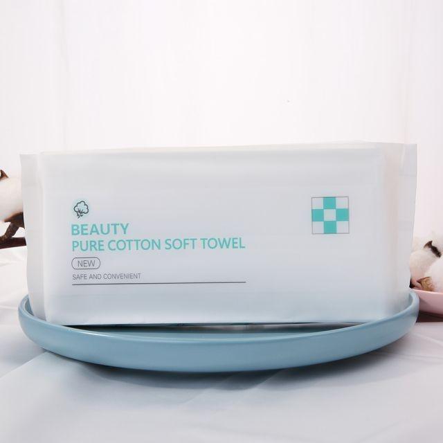 Silubi Custom Disposable 50 Pcs Face Clean Towel Facial Cleansing Wipes Convenient Beauty Pure Cotton Soft Towel SLB-A005