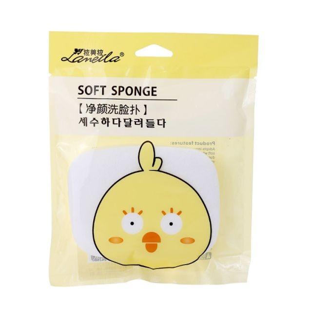 Lameila face wash sponge beauty skin care factory wholesale OEM natural compress soft facial cleansing sponge B2089