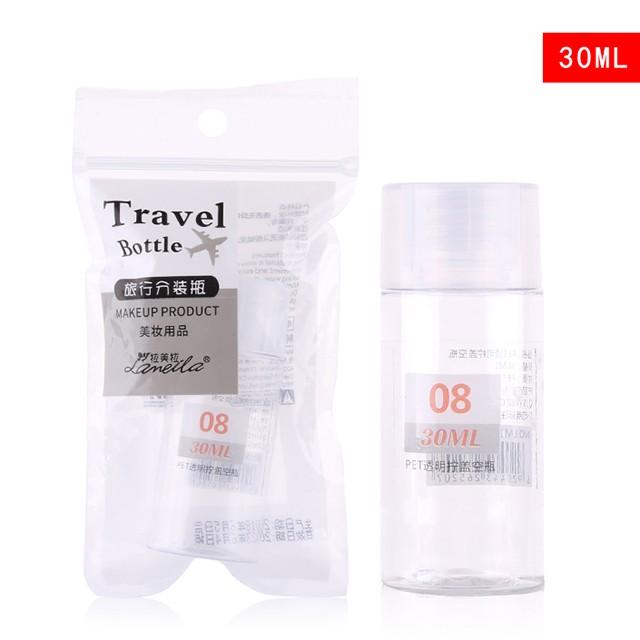 Lameila 30ml Portable Mini Bottles PP Screw Cap Transparent Color Refillable Oil Body Lotion Travel Empty Bottle LM185