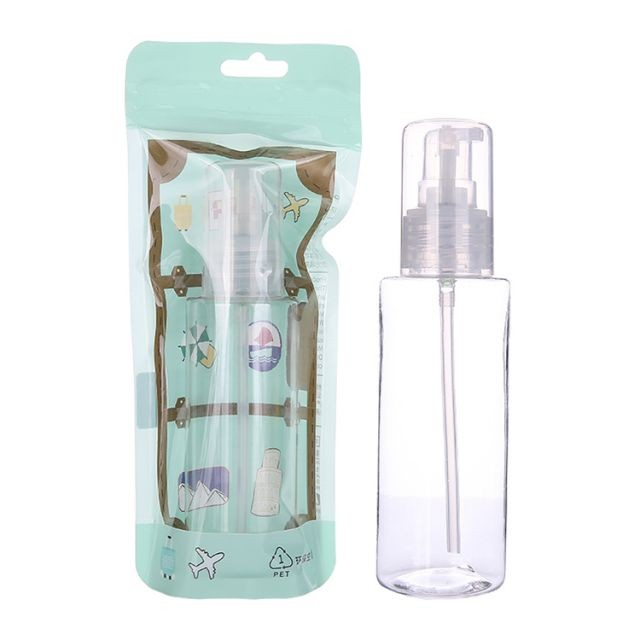 Lameila 100ml PET Lotion Pump Bottle Makeup Cosmetic Capacity Bottles Eco Friendly Airless Cream Press Travel Bottles LM718