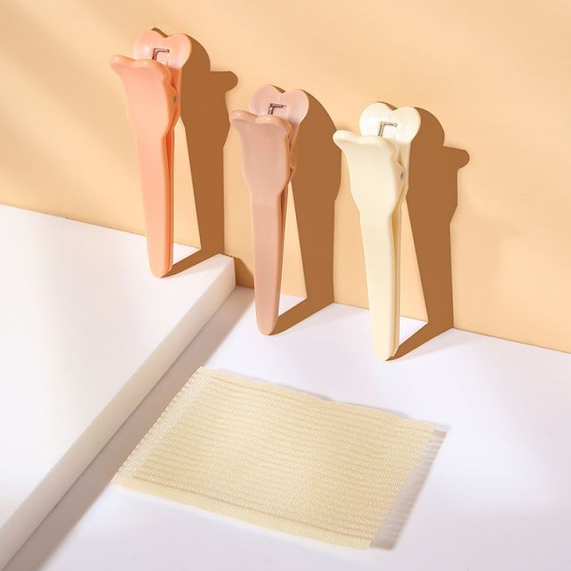 Lameila 4pcs Hair Clips Self-adhesive Popular Simple Cute NylonWomen Plastic Hairdressing Cosmetic Tool Private Label C283