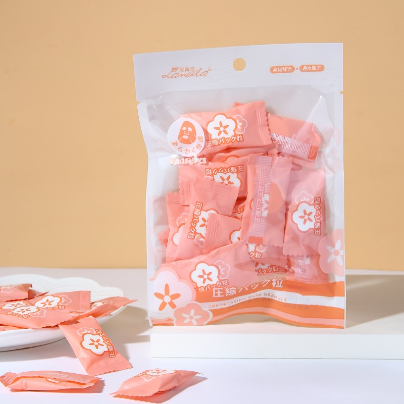 Candy compressed mask soft and comfortable compressed mask facial DIY paper mask 20sheet in pack D0851